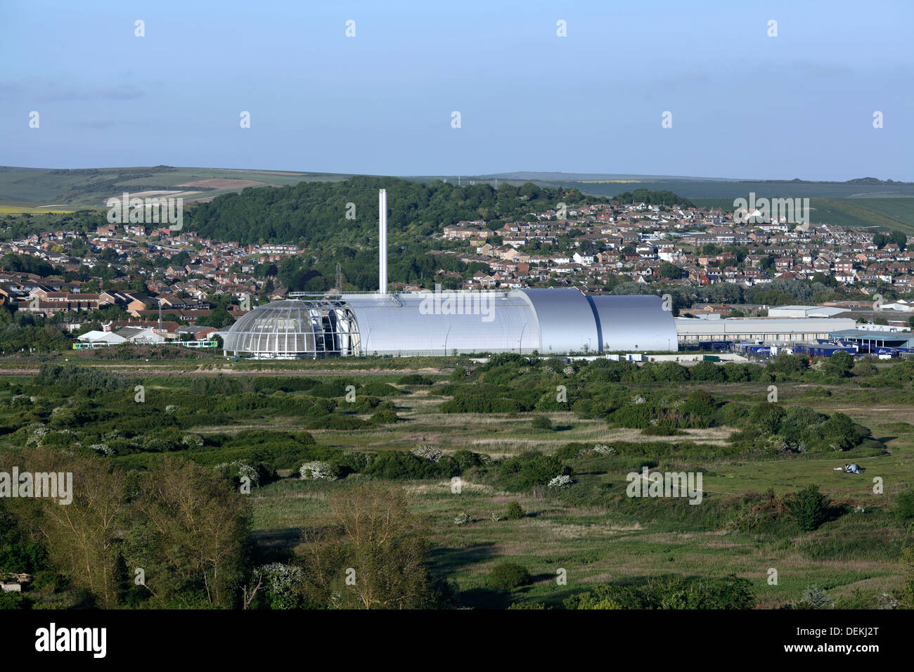 Refuse incinerator, North Quay, Newhaven, East Sussex. Officially known as the Newhaven Energy Recovery Facility. - Stock Image