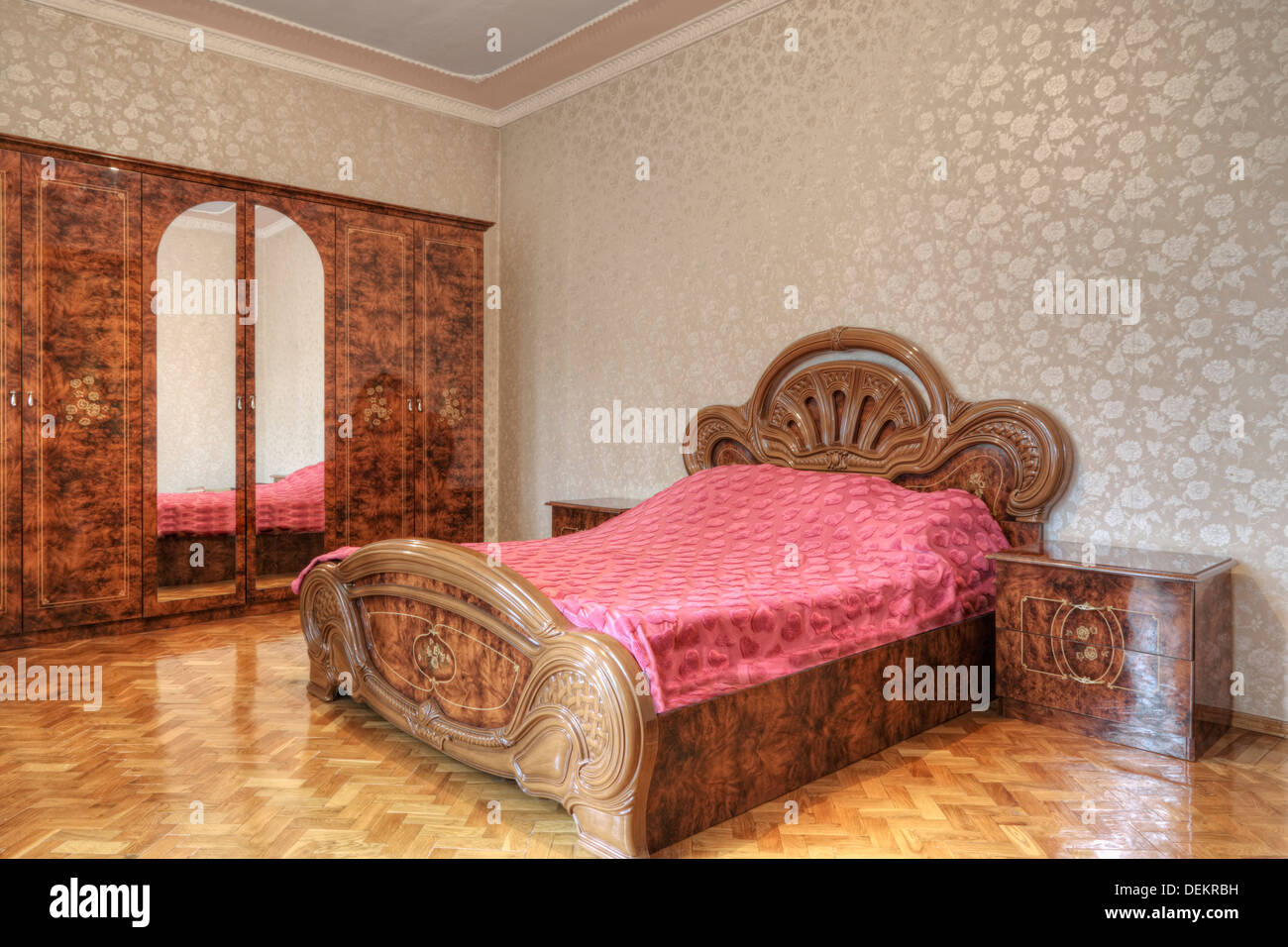 Wooden bedroom furniture stock photos wooden bedroom furniture
