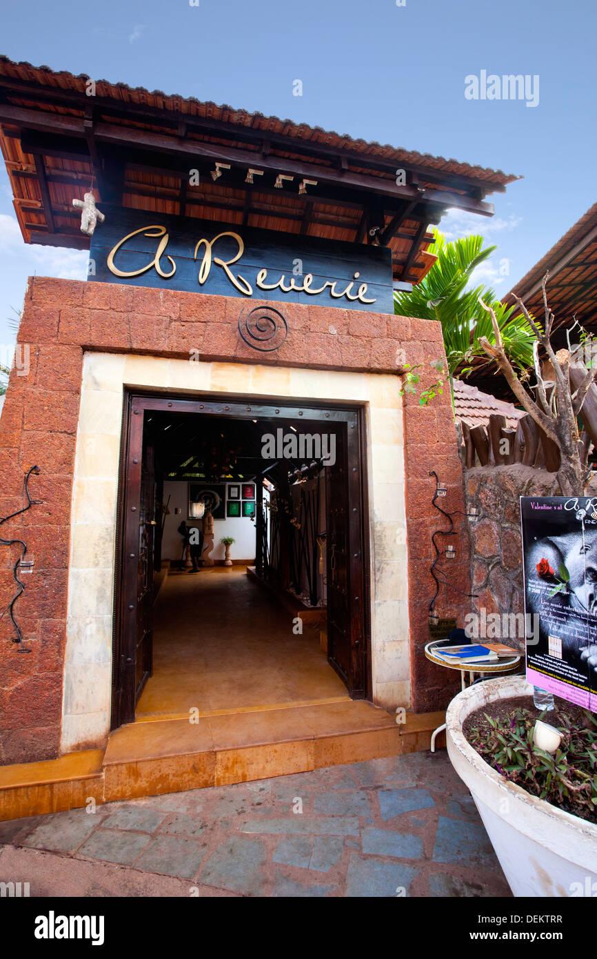 Entrance of a restaurant, A Reverie, Calangute, North Goa, Goa, India - Stock Image