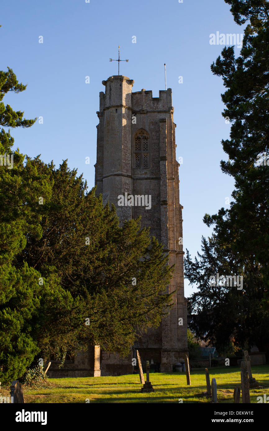 The Blessed Virgin Mary Church, a fifteenth century church in the village of Donyatt in Somerset. - Stock Image
