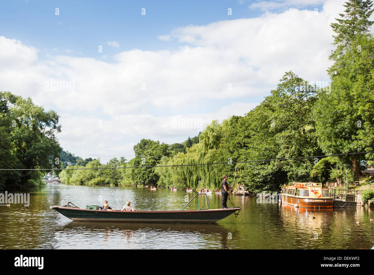 Gloucestershire tourist and travel forest of dean and Wye Valley River and Herefordshire Monmouthshire borders - Stock Image