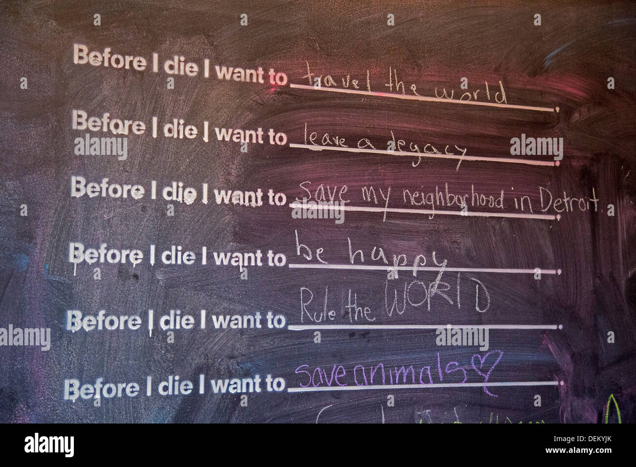 Woodstock, New York - A blackboard at the entrance to Oriole9 restaurant - Stock Image
