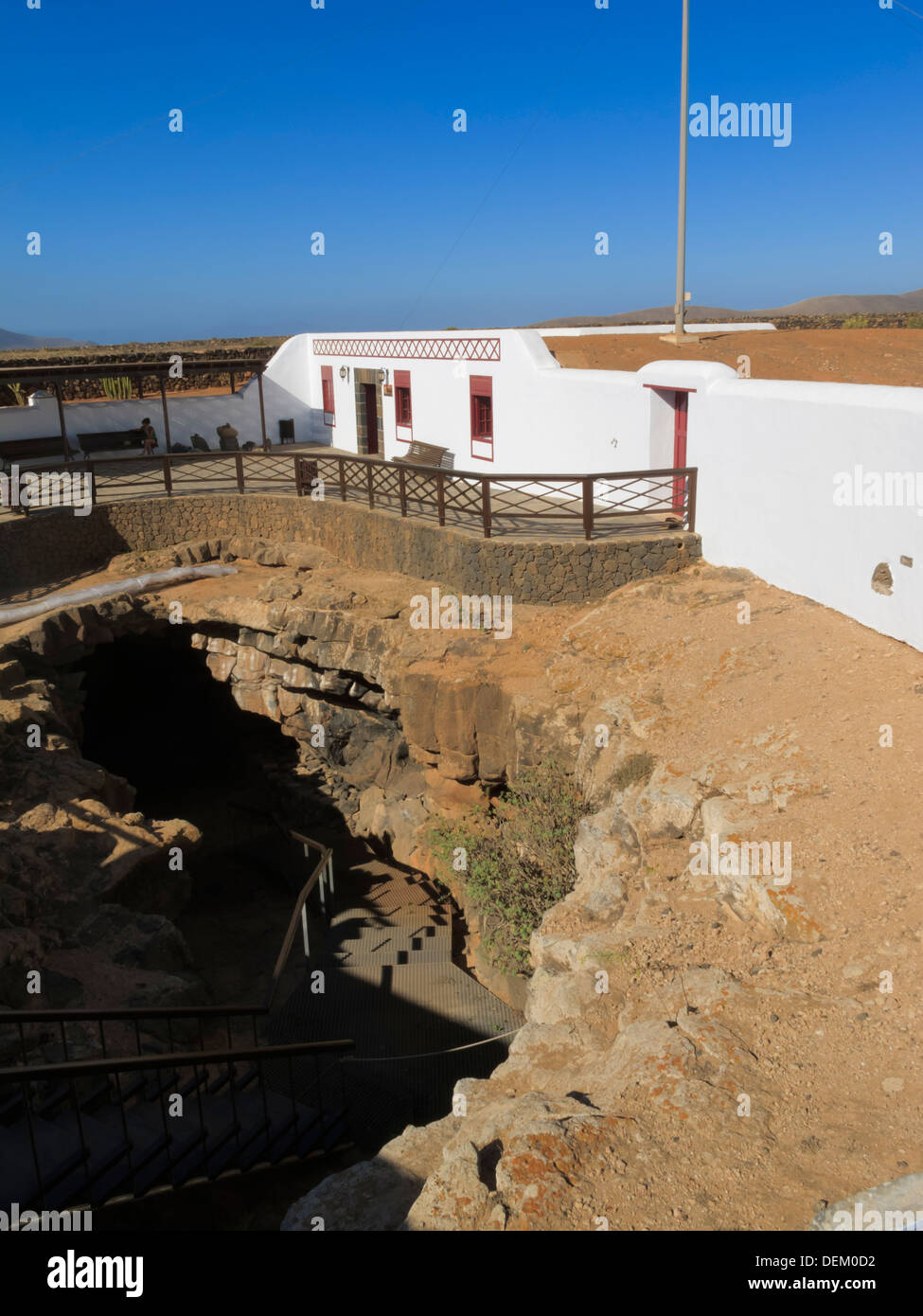 Cuevo del Llano (Cave of the Plain) Villaverde La Oliva Fuerteventura Canary Islands Spain - Stock Image