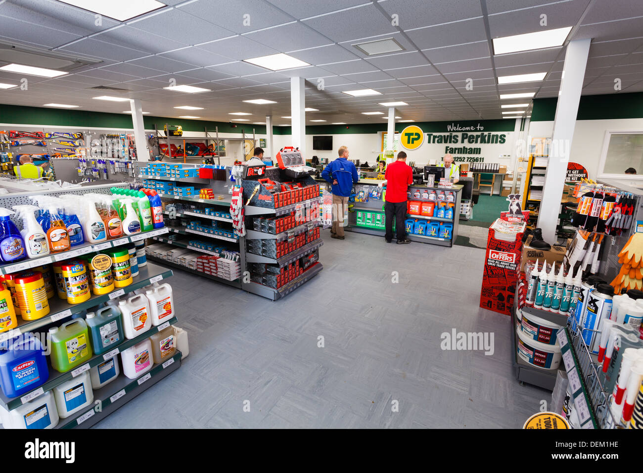 interior of Travis Perkins Builders Merchants shop - Stock Image