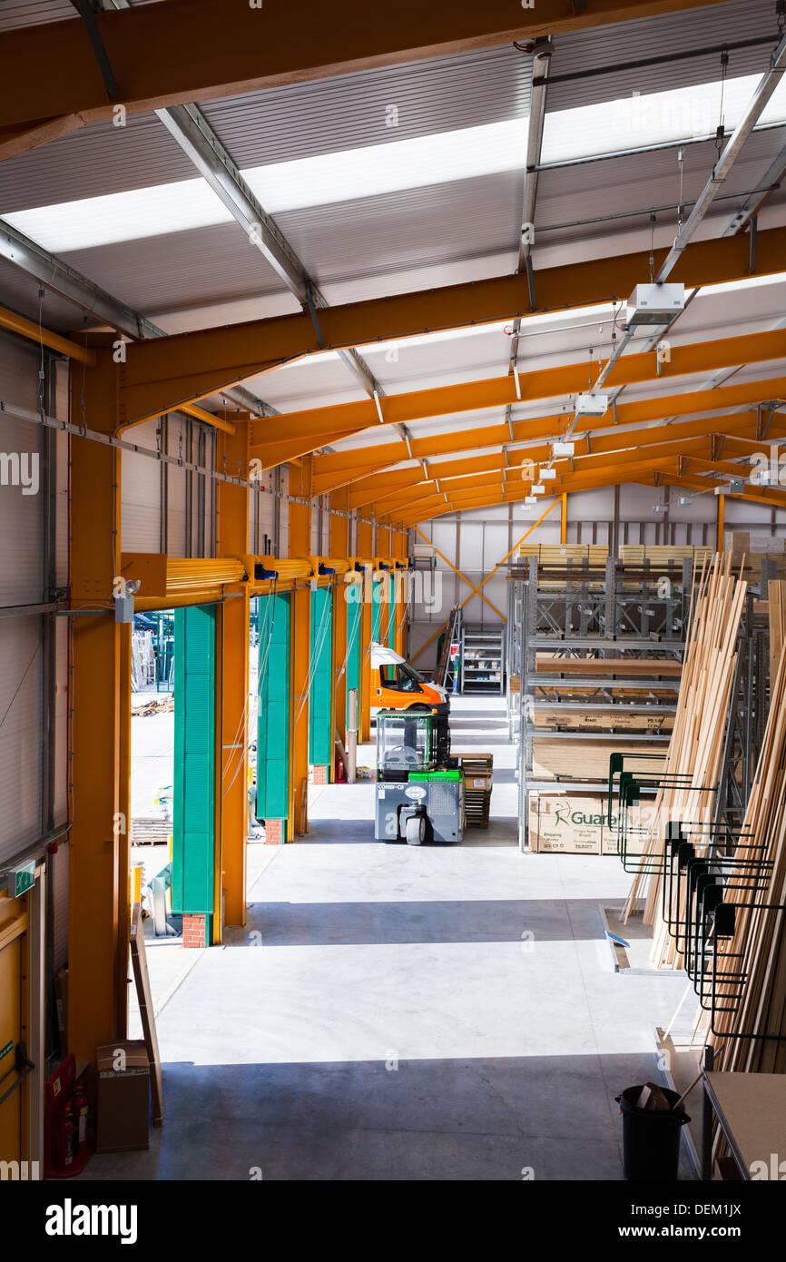 vehicle access roller doors in builders merchant warehouse & vehicle access roller doors in builders merchant warehouse Stock ...
