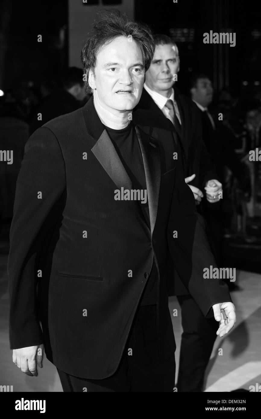 Quentin Tarantino attend the UK Premiere of 'Django Unchained' at Empire Leicester Square on January 10, 2013 in London, England - Stock Image