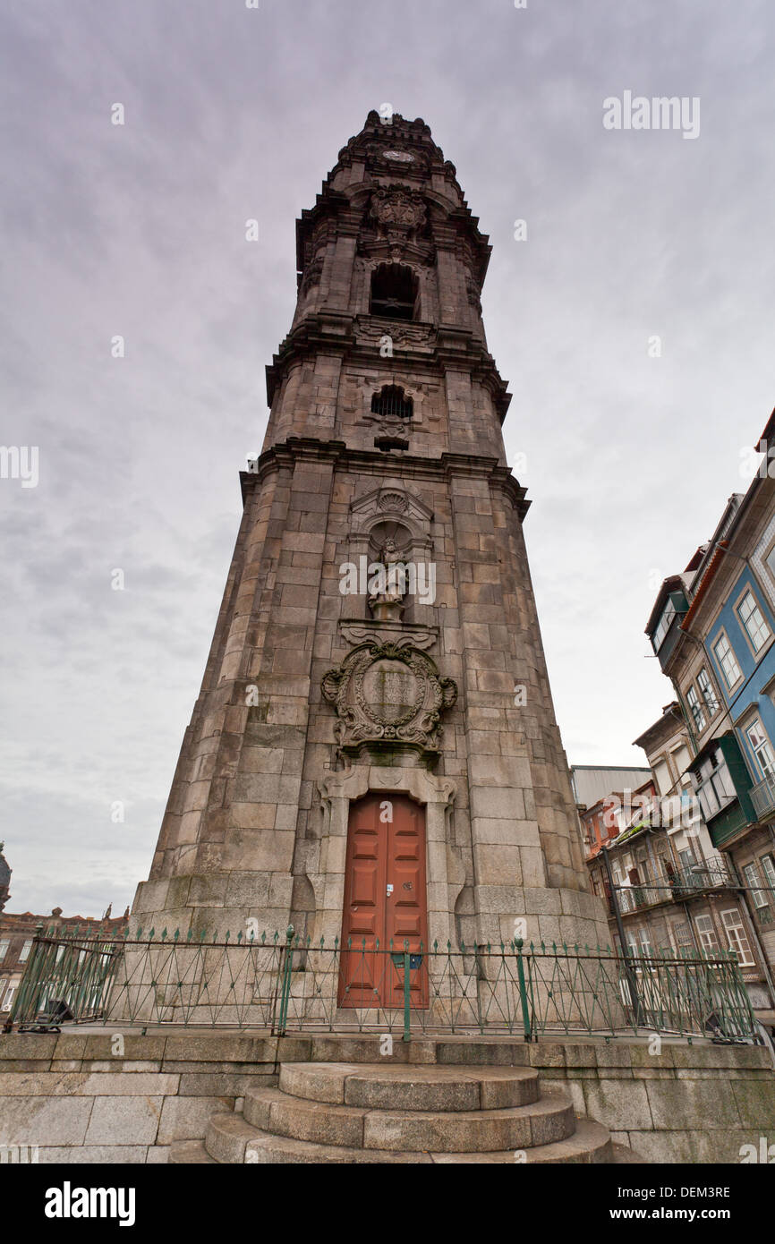 Tower of the Clerigos, Oporto, Portugal - Stock Image
