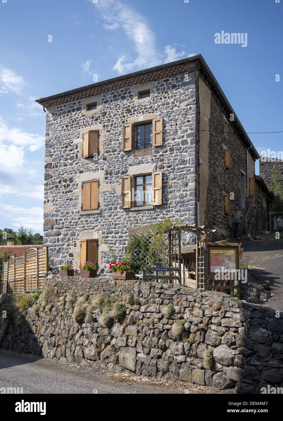 Gite hostel in St-Privat-d'Allier on the GR65 route, The way of St James, France - Stock Image