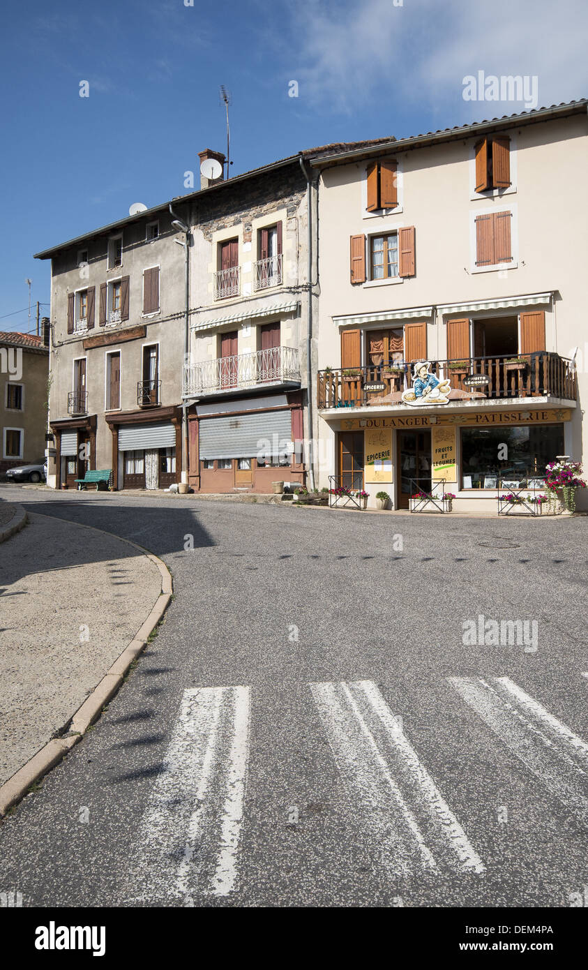 The Boulangerie Patisserie in St-Privat-d'Allier on the GR65 route, The way of St James, France - Stock Image