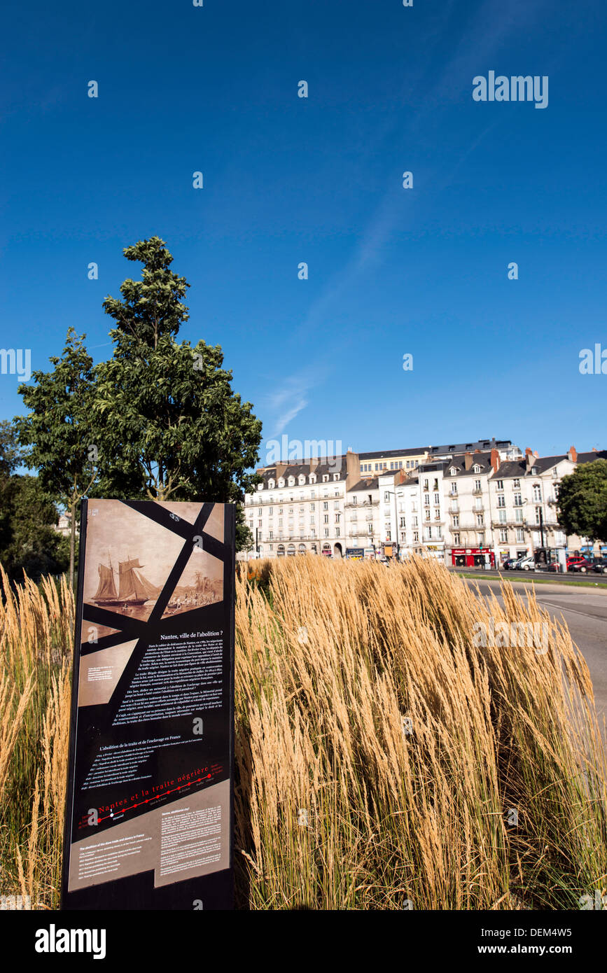 Memo­r­ial to the Abo­li­tion of Slavery Nantes France - Stock Image