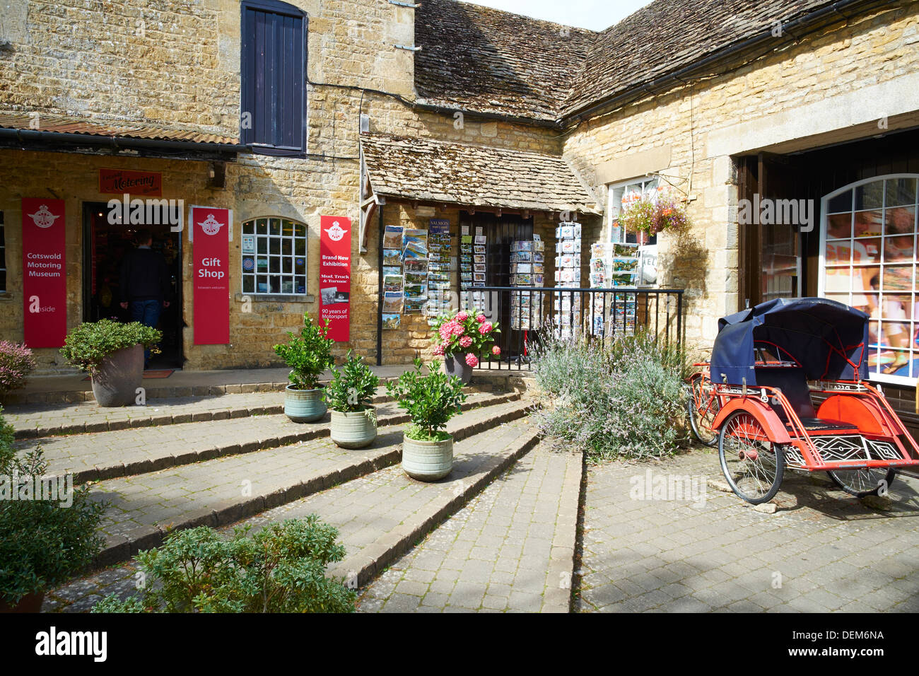 entrance to the motor museum the old mill sherbourne street bourton stock photo alamy alamy
