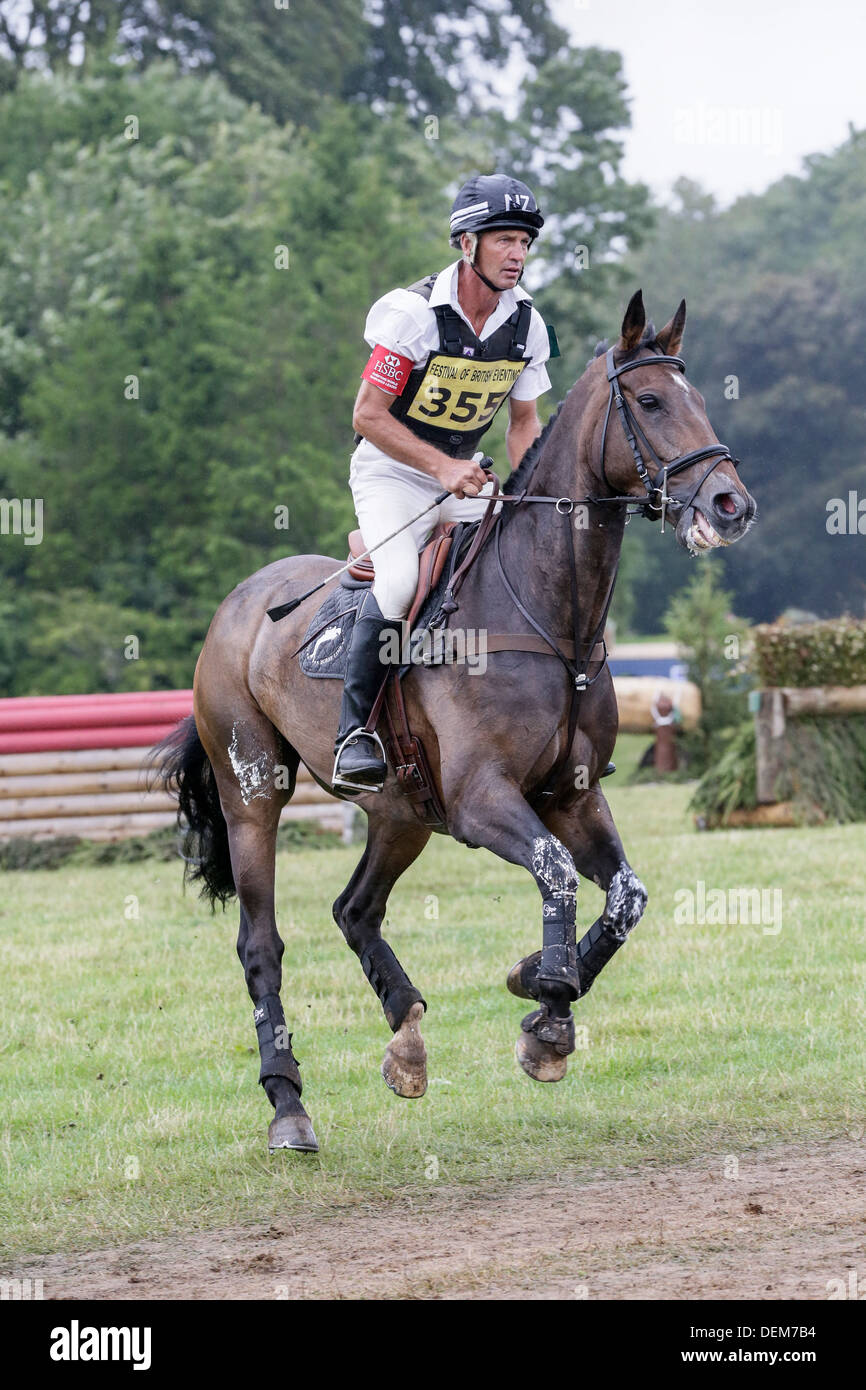 Andrew Nicholson on Viscount George at the Festival of British Eventing - Gatcombe Park 2013 - Stock Image