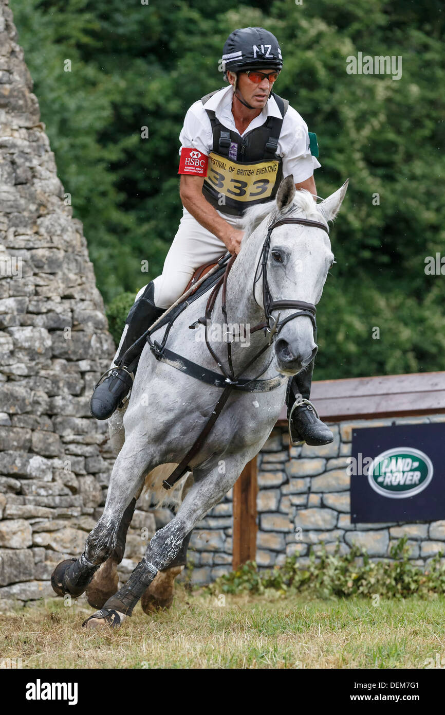 Andrew Nicholson on Avebury at the Festival of British Eventing - Gatcombe Park 2013 - Stock Image