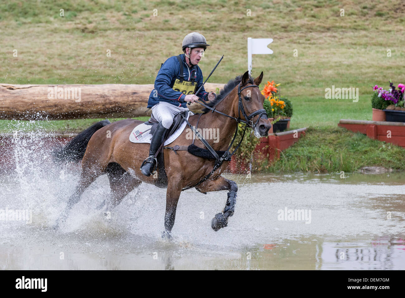 Angus Smales on The Pilgrims promise at FBE 2013, Gatcombe Park - Stock Image