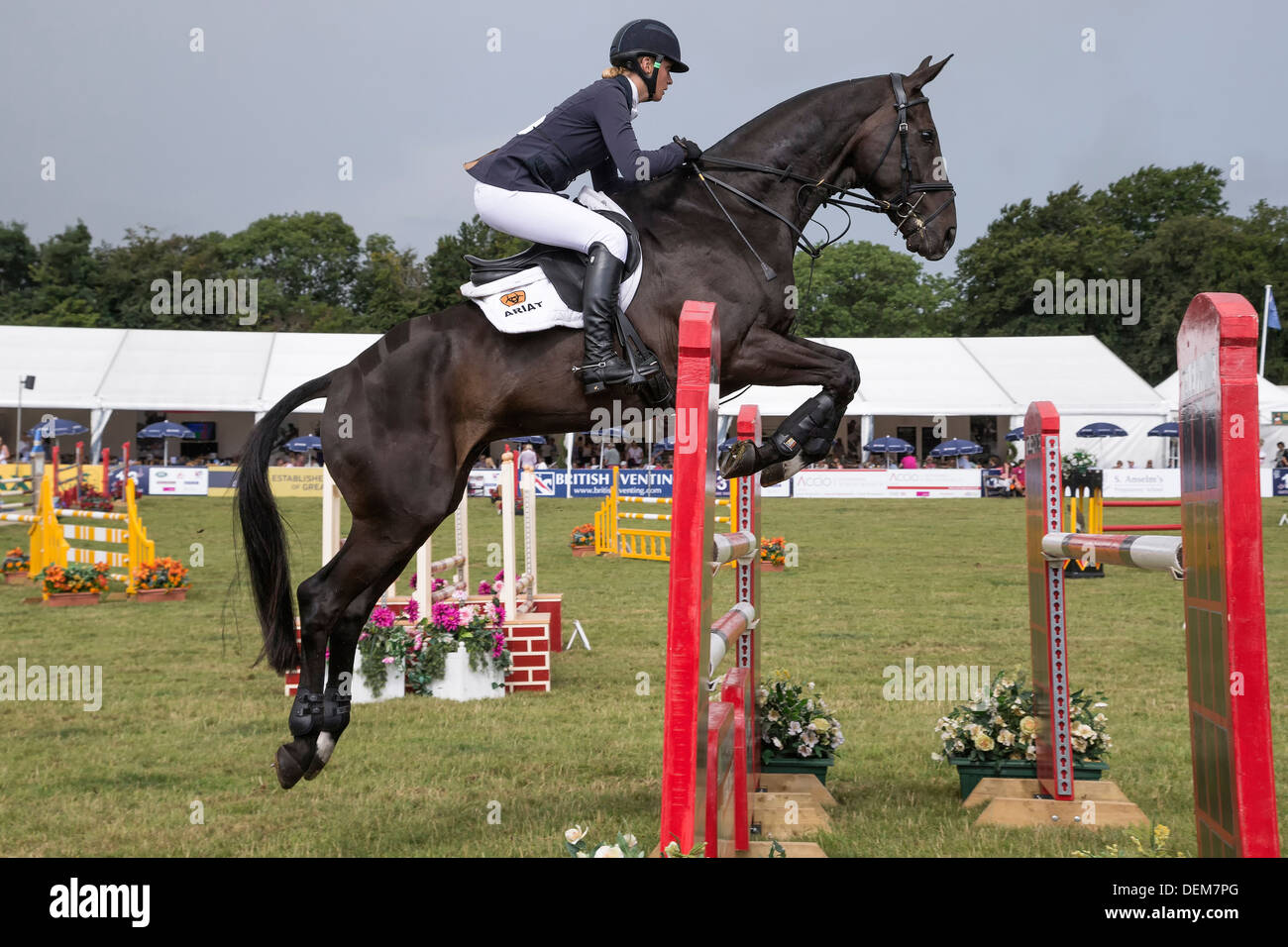 Emily King on Brookleigh at the Festival of British Eventing - Gatcombe Park 2013 - Stock Image