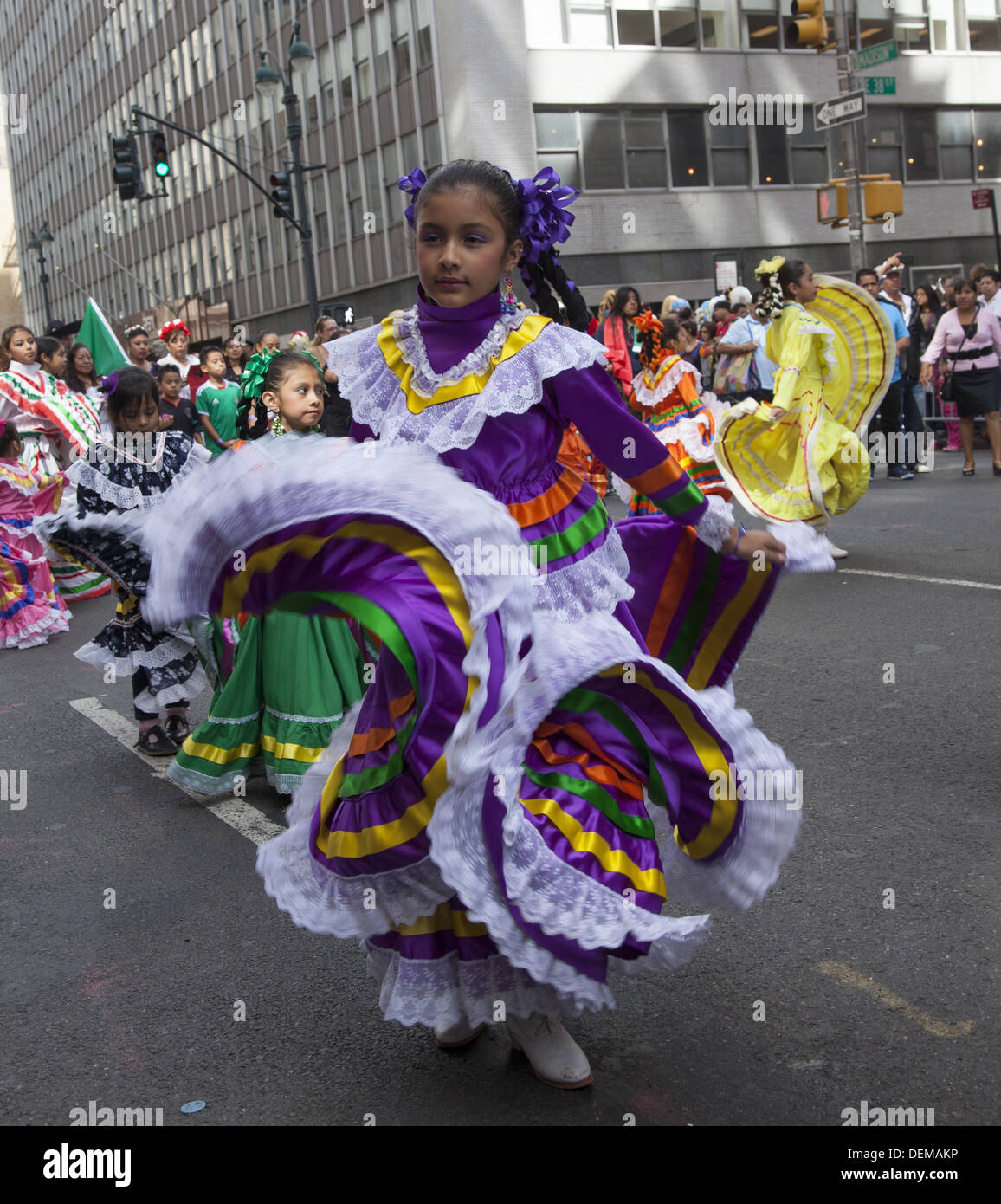 Mexican Independence Day Parade on Madison Avenue, NYC. - Stock Image