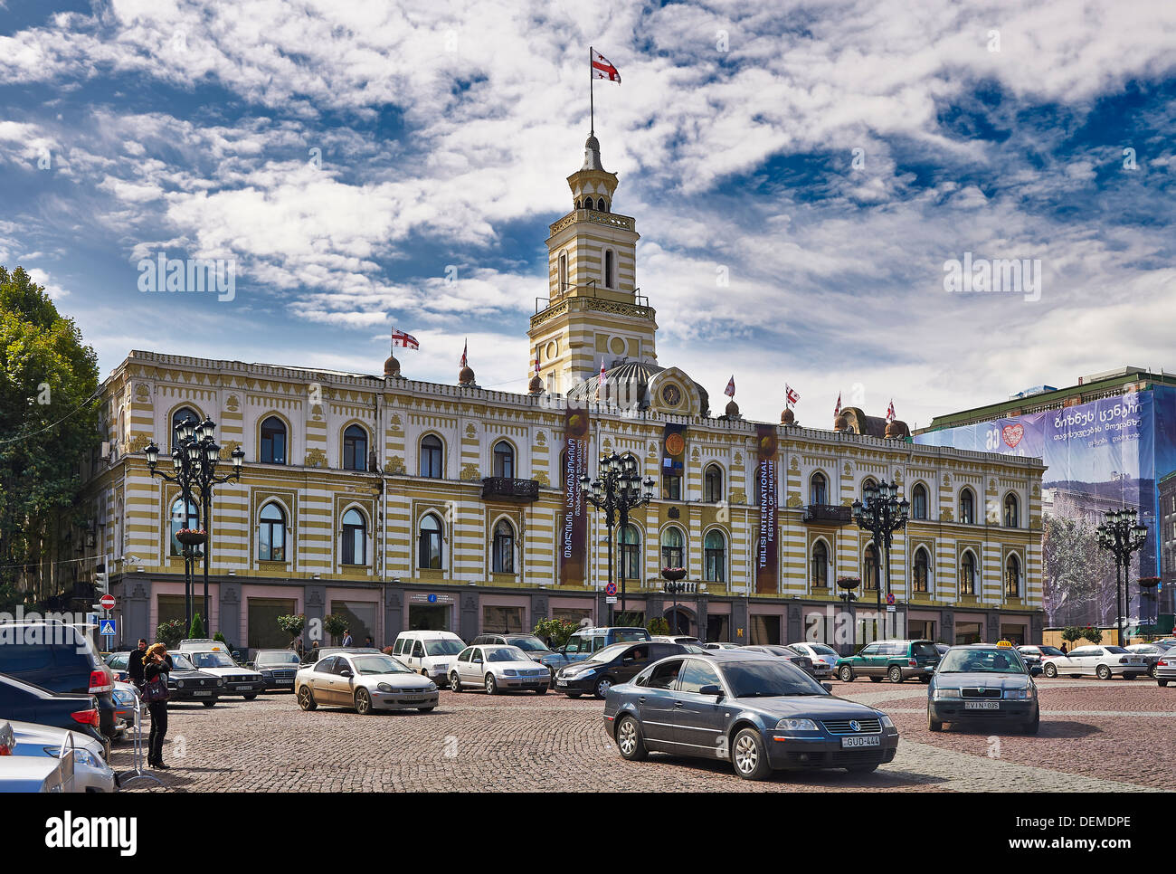 townhall or municipality of Tbilisi, Georgia Stock Photo