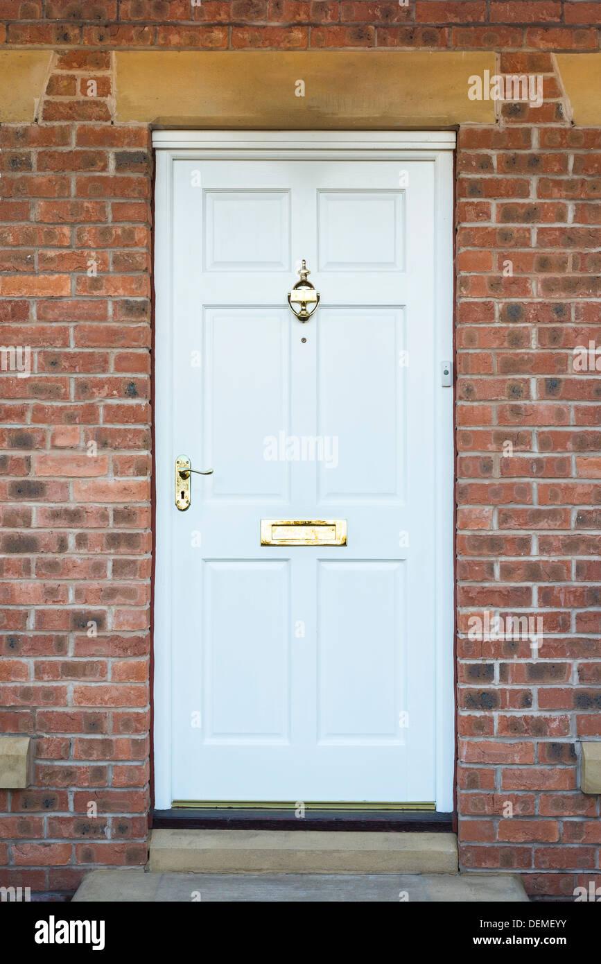front door to expensive house,lancashire,england,uk,europe Stock Photo