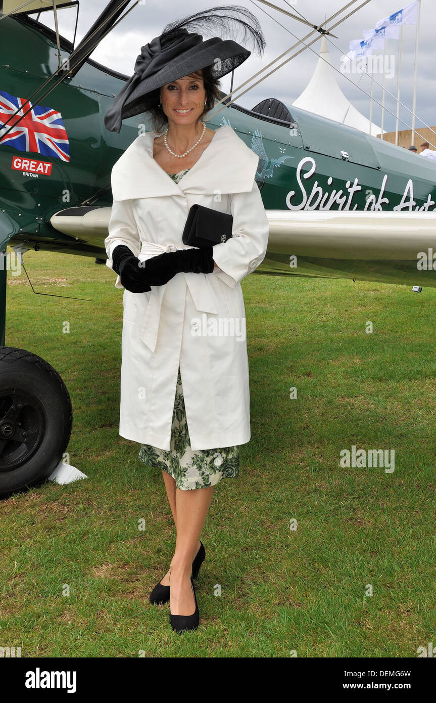 In November 2013 pilot Tracey Curtis-Taylor will embark on a flight from Cape Town to Goodwood, Sussex, UK in green biplane - Stock Image