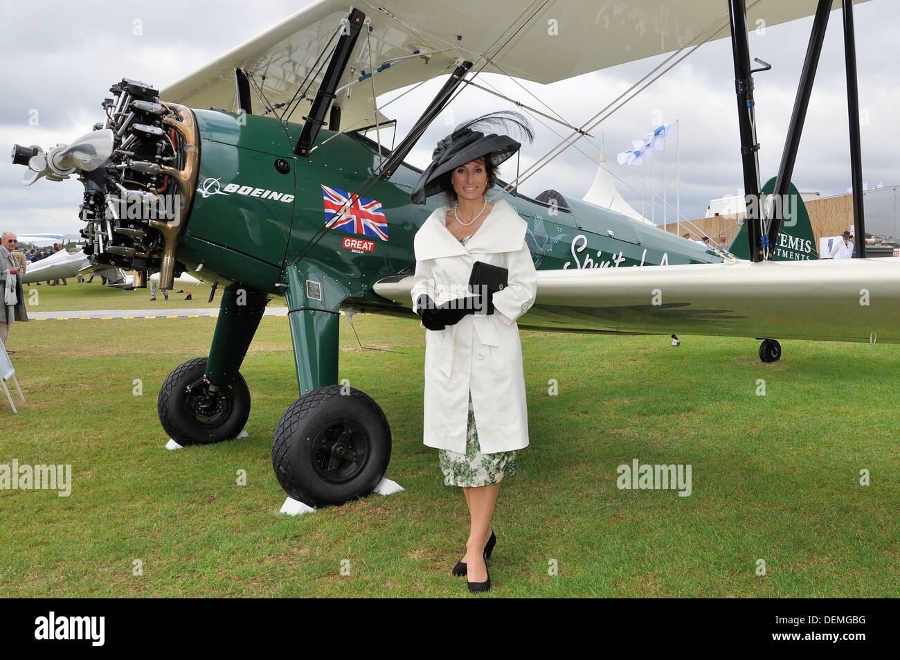 In November 2013 pilot Tracey Curtis-Taylor will embark on a flight from Cape Town to Goodwood, Sussex, UK in her Stearman - Stock Image