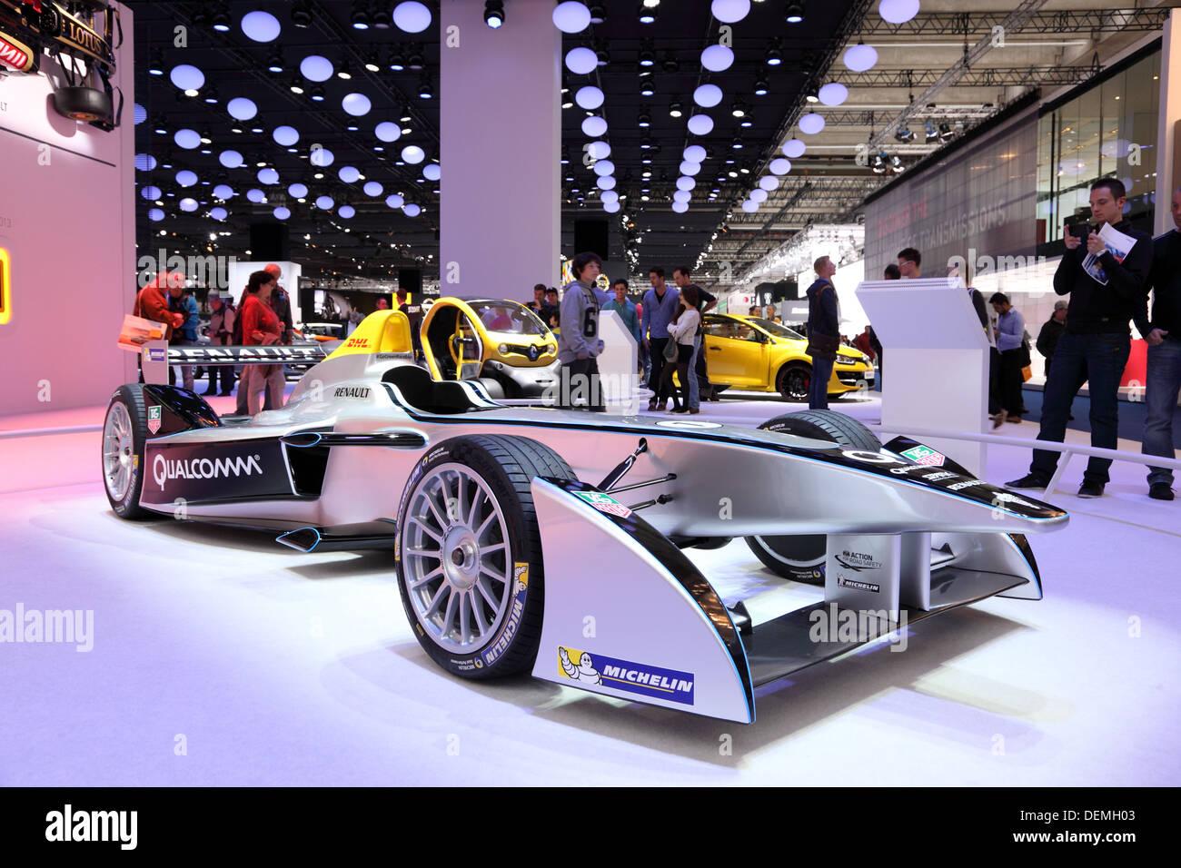 Renault  Formula One Racing Car at the 65th IAA in Frankfurt, Germany - Stock Image