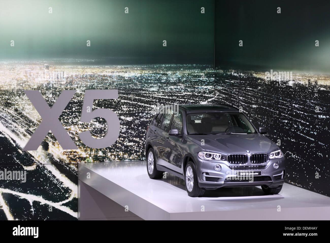 BMW X5 suv at the 65th IAA in Frankfurt, Germany - Stock Image