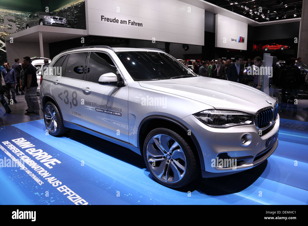 BMW X5 EfficientDynamics at the 65th IAA in Frankfurt, Germany - Stock Image