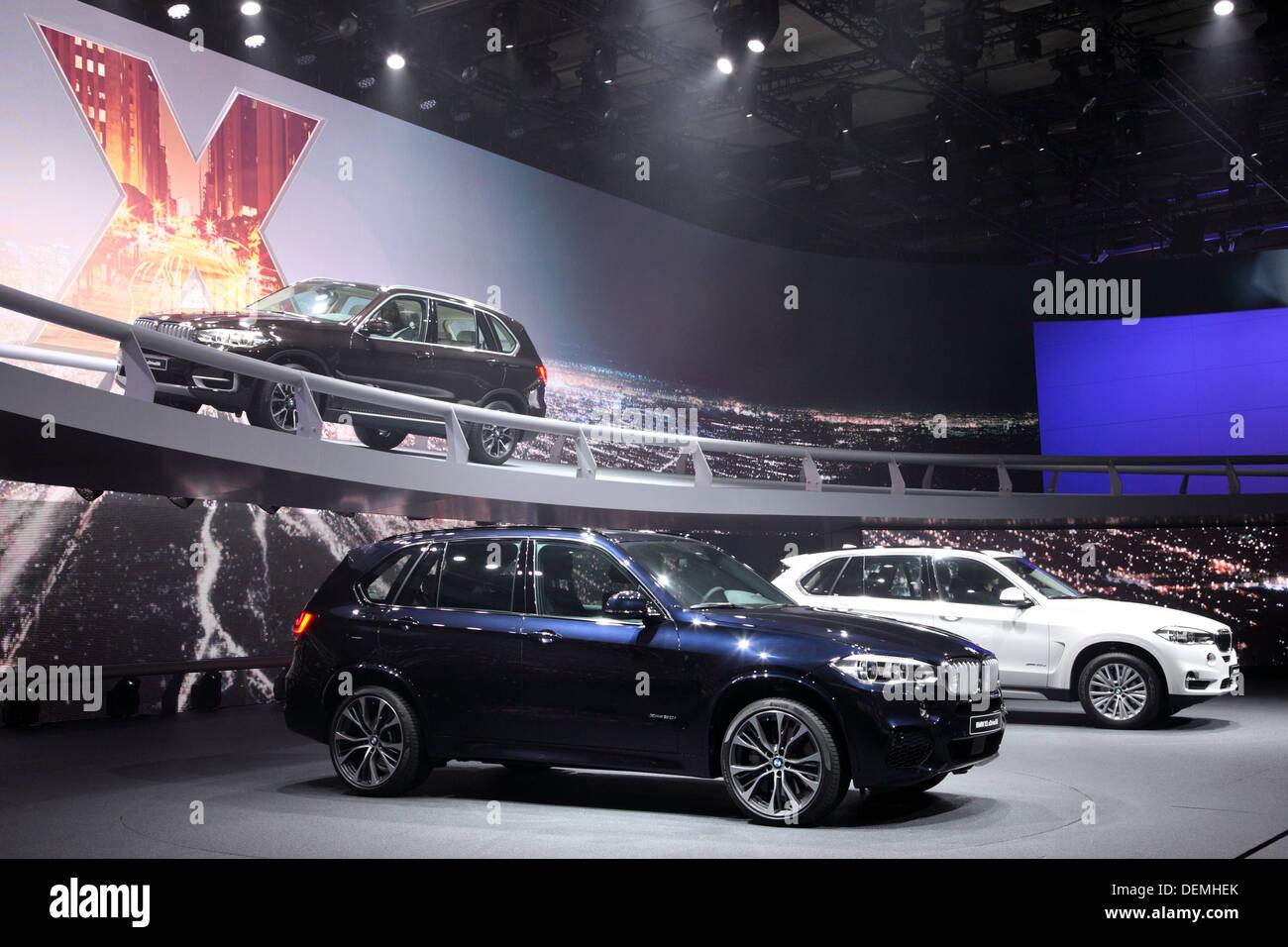 BMW X5  presentation at the 65th IAA in Frankfurt, Germany - Stock Image
