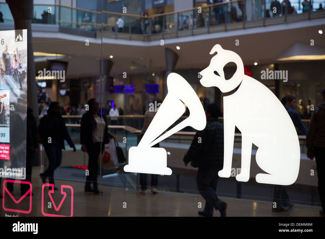 HMV Nipper the Dog Sign - Stock Image