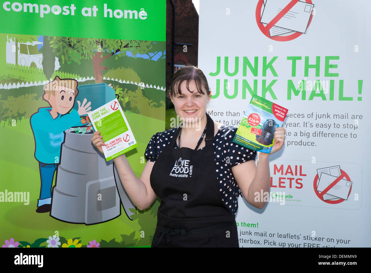 Port Sunlight, Wirral, UK.  21st September, 2013. Claire Brandwood, (MR) Wirral Council Waste prevention environmental Stock Photo
