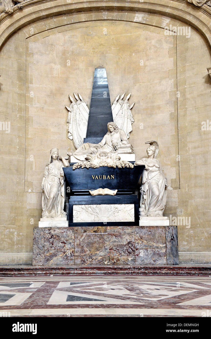 Les Invalides, Vauban's grave, Paris, France. - Stock Image