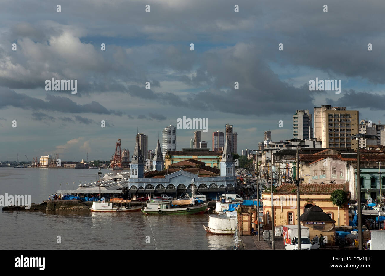 View of the town of Belem from fort of Presépio - Stock Image
