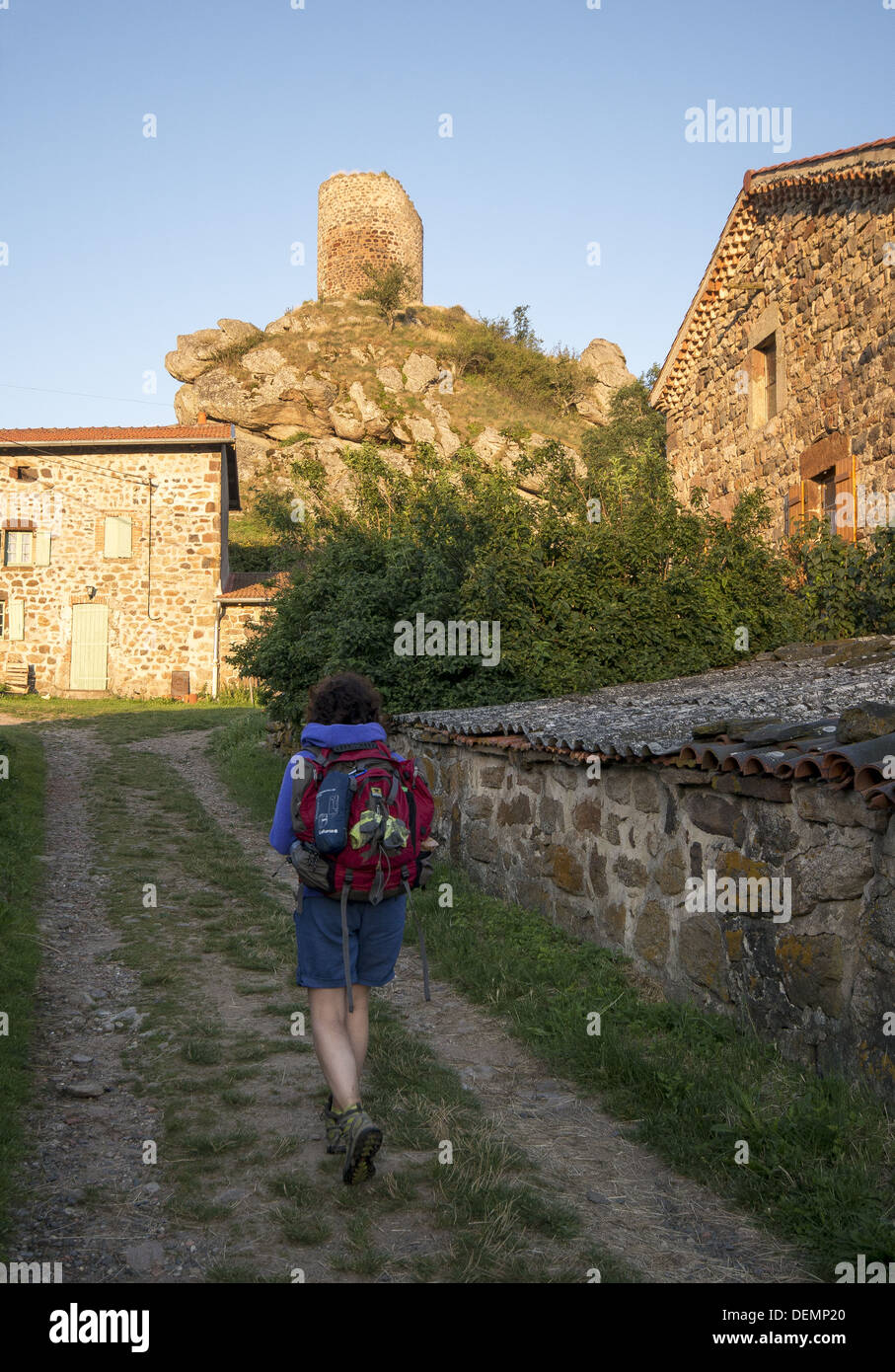 The rural village of Rochegude on the GR65 walking route in France. The Way of St James, Camino de Santiago - Stock Image