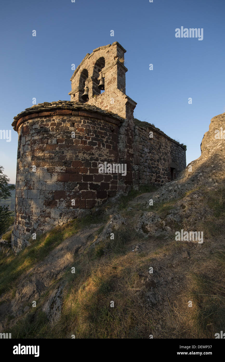 The chapel of St James on the GR65 walking route, the Camino de Santiago, the Way of St James in Rochegude, France - Stock Image