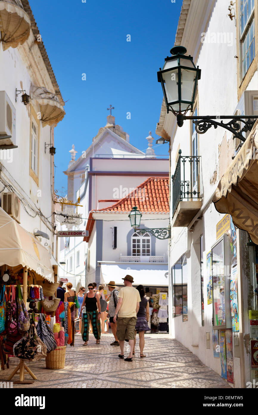 Albufeira old town, Algarve, Portugal - Stock Image