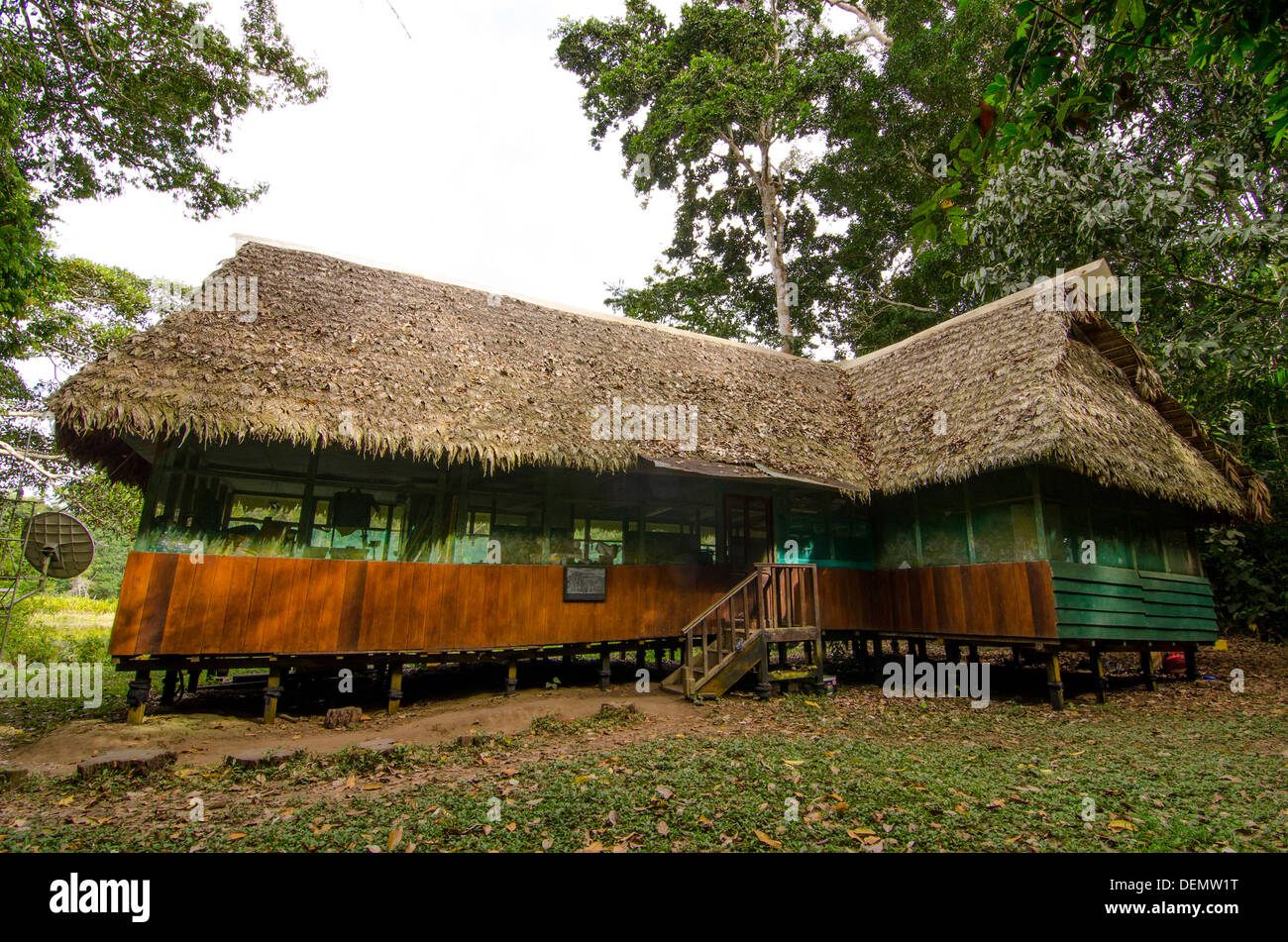 Cocha Cashu Biological Research Station, Manu National Park, Peru - Stock Image