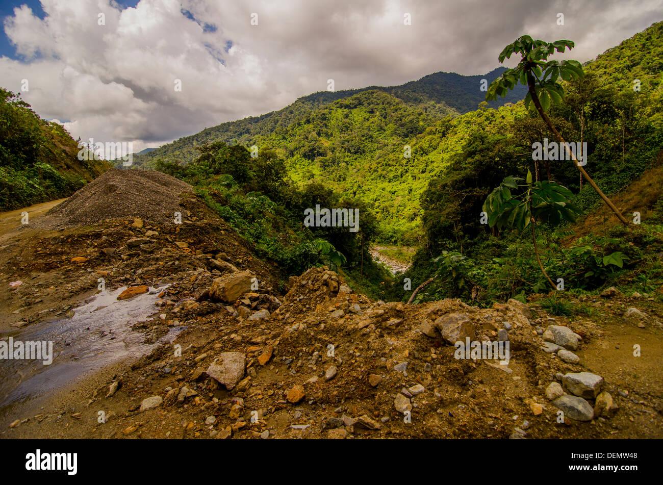 Manu Road through Manu National Park Madre de Dios - from Cuzco to the Madre de Dios River and Manu - Stock Image