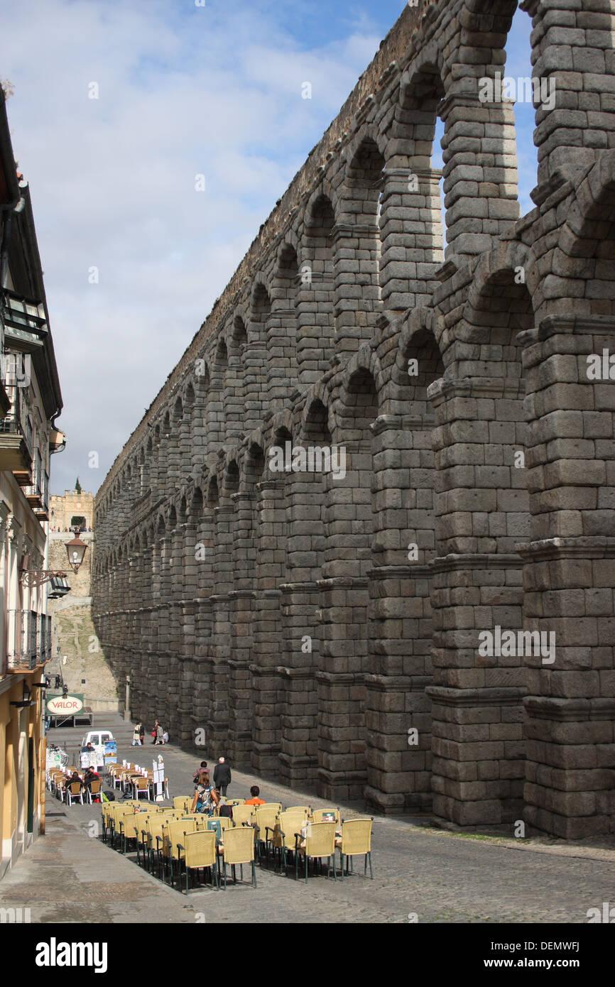 Acueducto de Segovia, Segovia, Spain - Stock Image