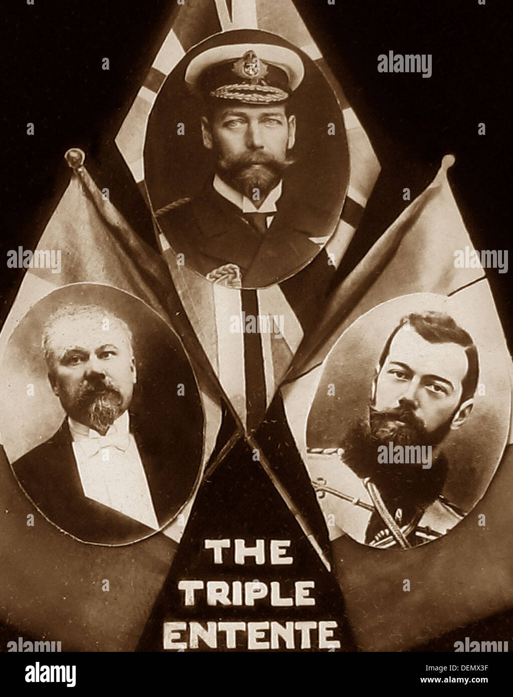 The Triple Entente during WW1 - Stock Image
