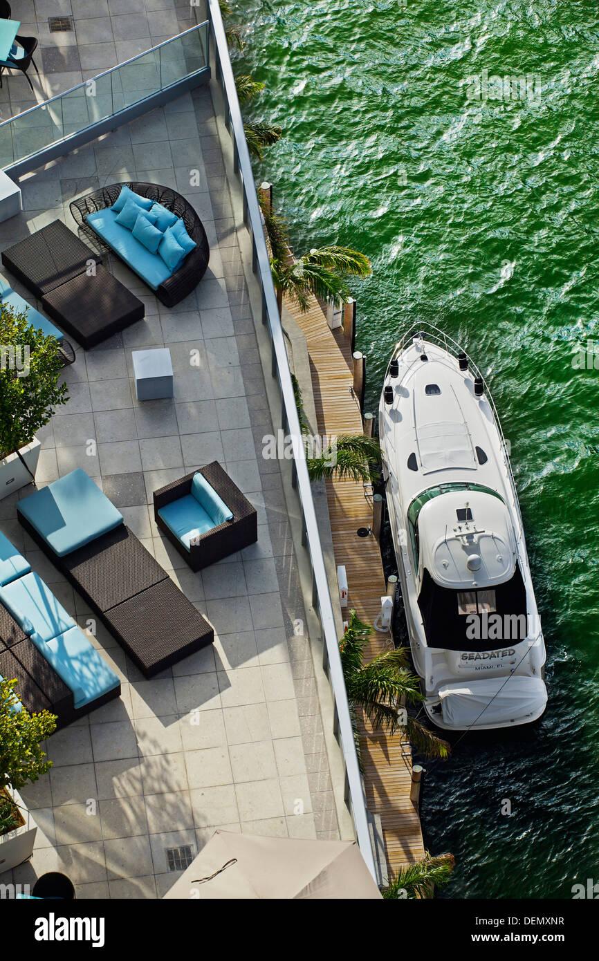 Epic Hotel and Miami river, Miami, Florida, USA - Stock Image