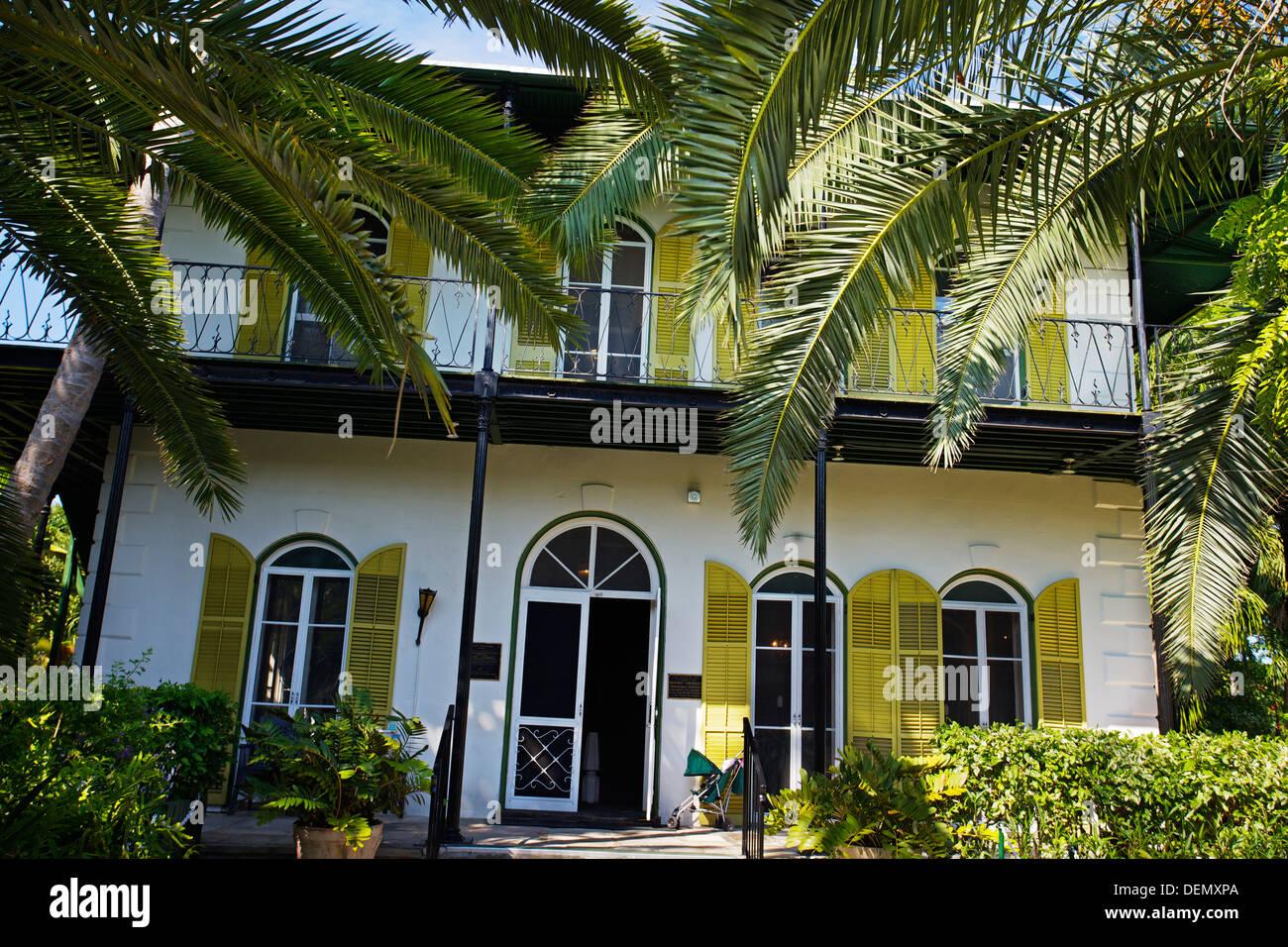 Ernest Hemingway home and museum  Key West  Florida, USA Stock Photo