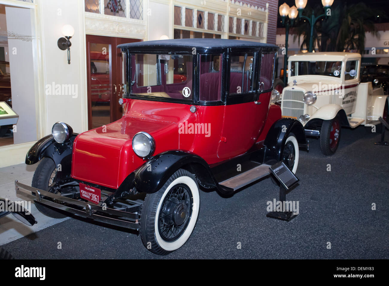 1917 Detroit Electric car at the Petersen Museum in Los Angeles ...