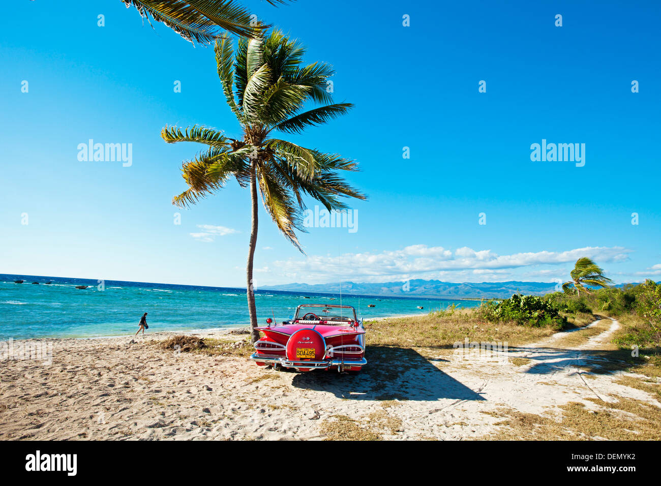 Ancon Beach Classic Car Trinidad City Sancti Spiritus Province Cuba