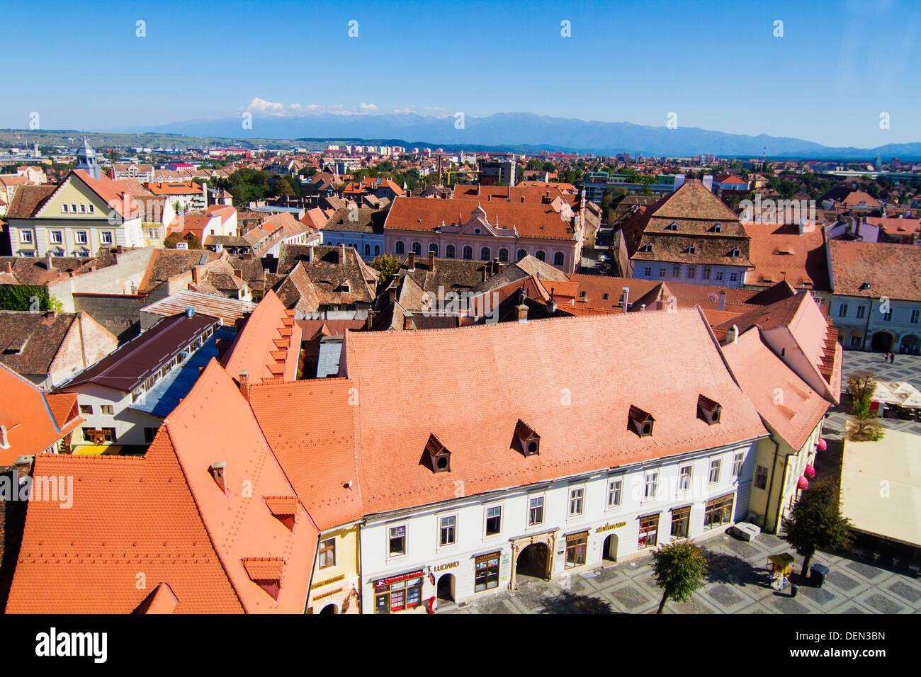 Hermannstadt (Sibiu) the European Capital of Culture in 2007 Stock Photo