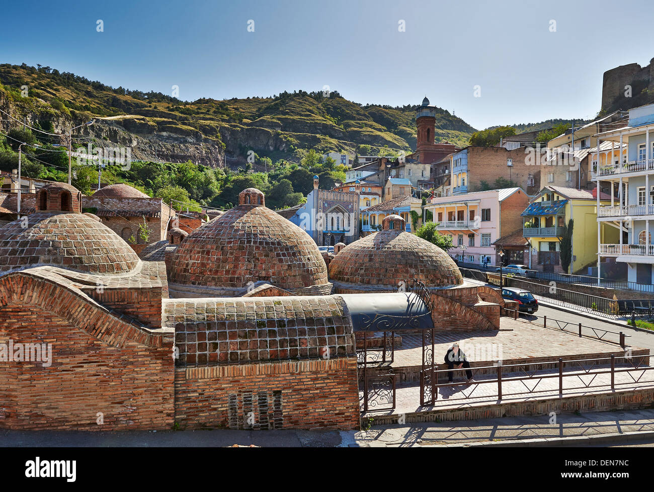 brick domed Sulfur Baths, Tbilisi, Georgia Stock Photo