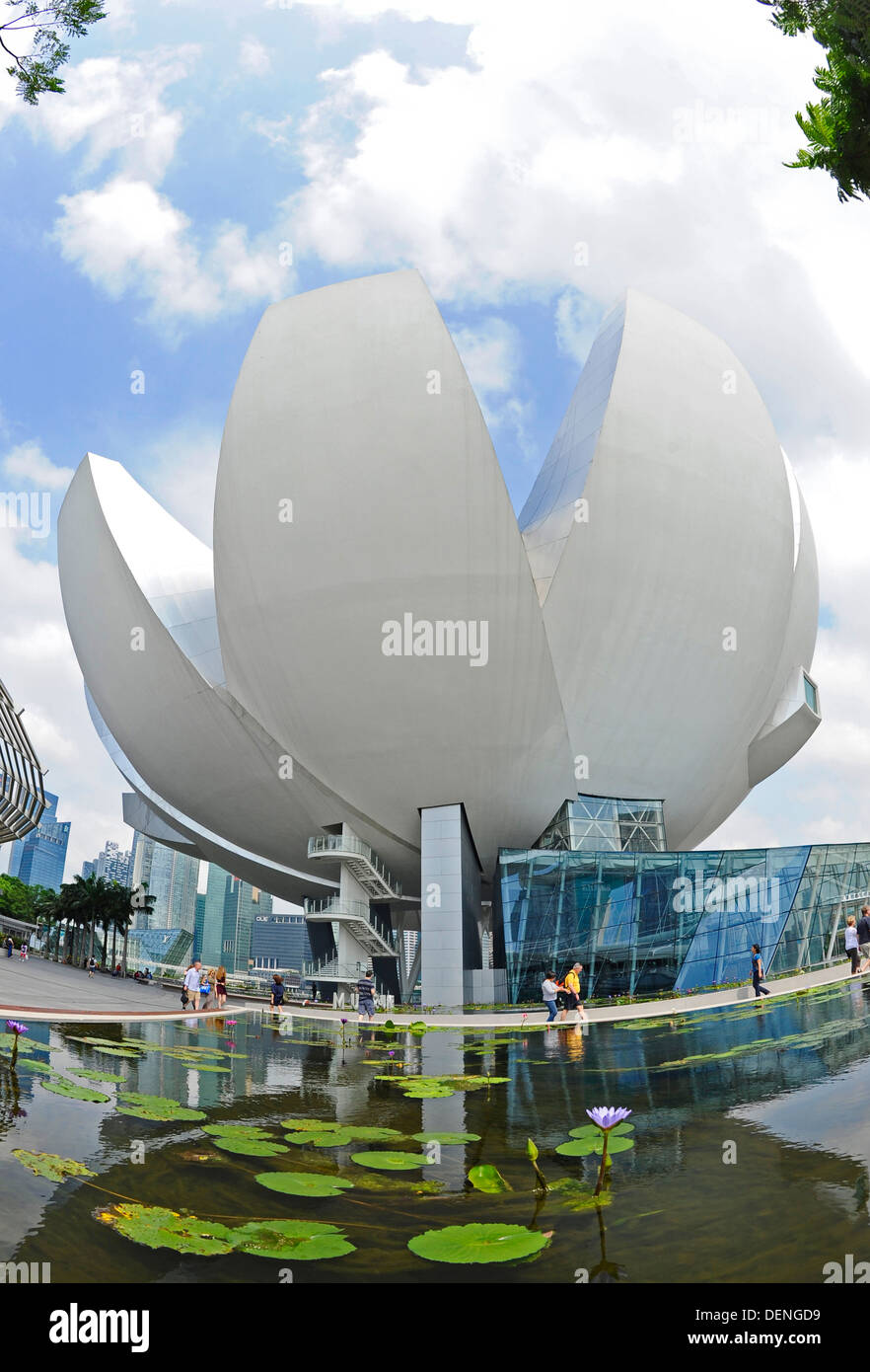 The Art Science Museum at the Marina Bay Sands in Singapore. - Stock Image