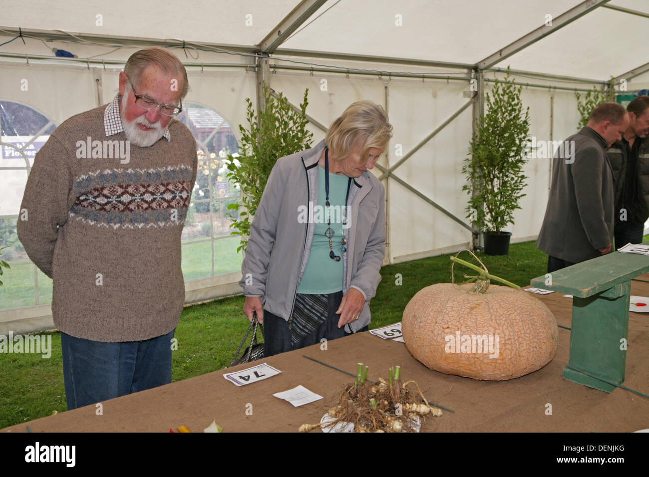 Knockholt,UK,22nd September 2013,Visitors looked at the pumpkins at the Bromley In Bloom Competitio Credit: Keith Larby/Alamy Live News - Stock Image