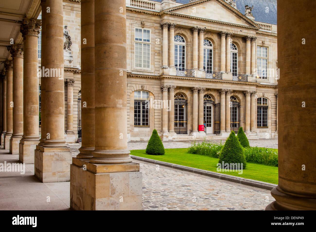 National Archives Museum - originally Hôtel de Soubise, Marais, Paris France - Stock Image