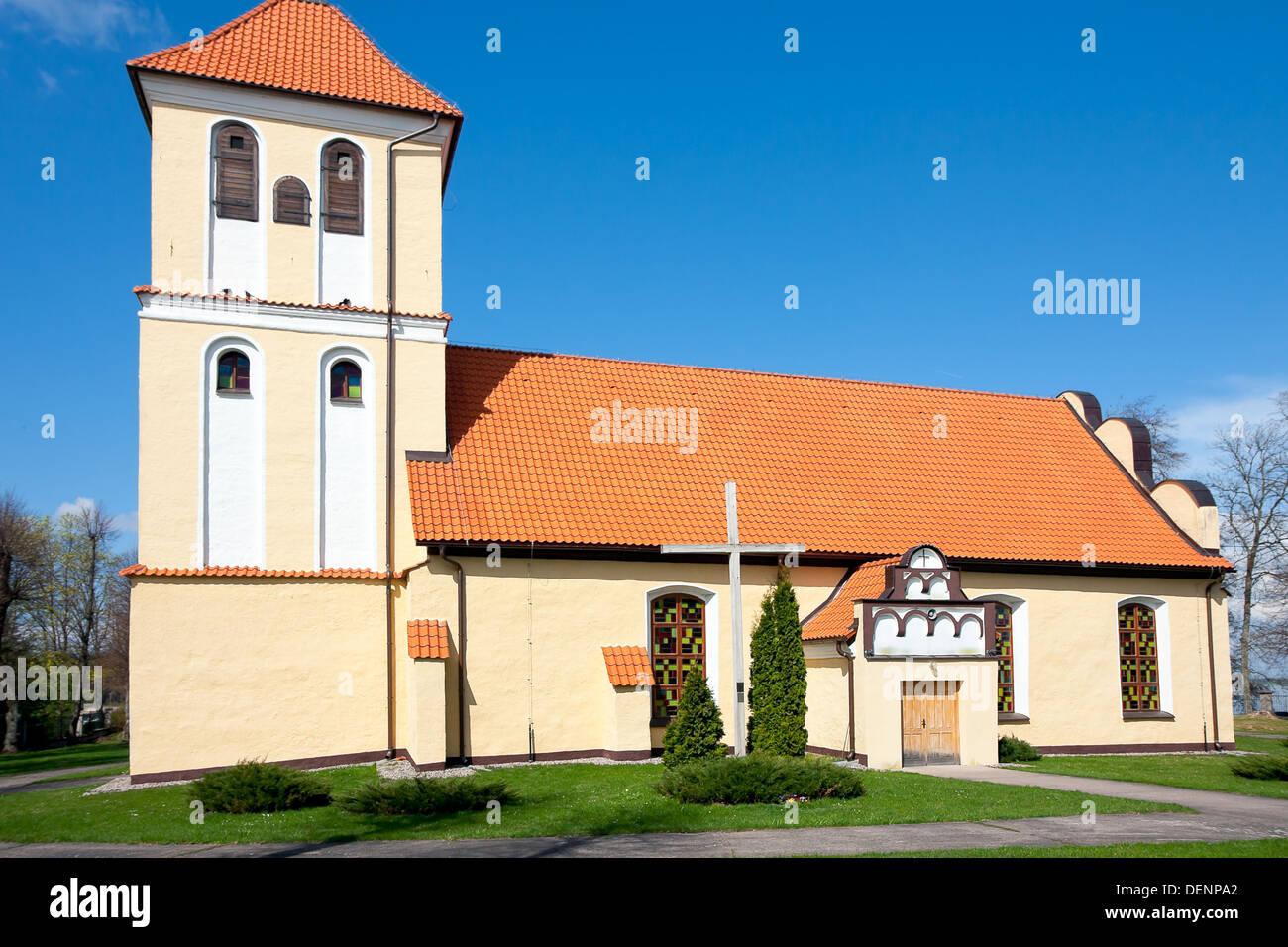 Church in Rydzewo / Poland Stock Photo