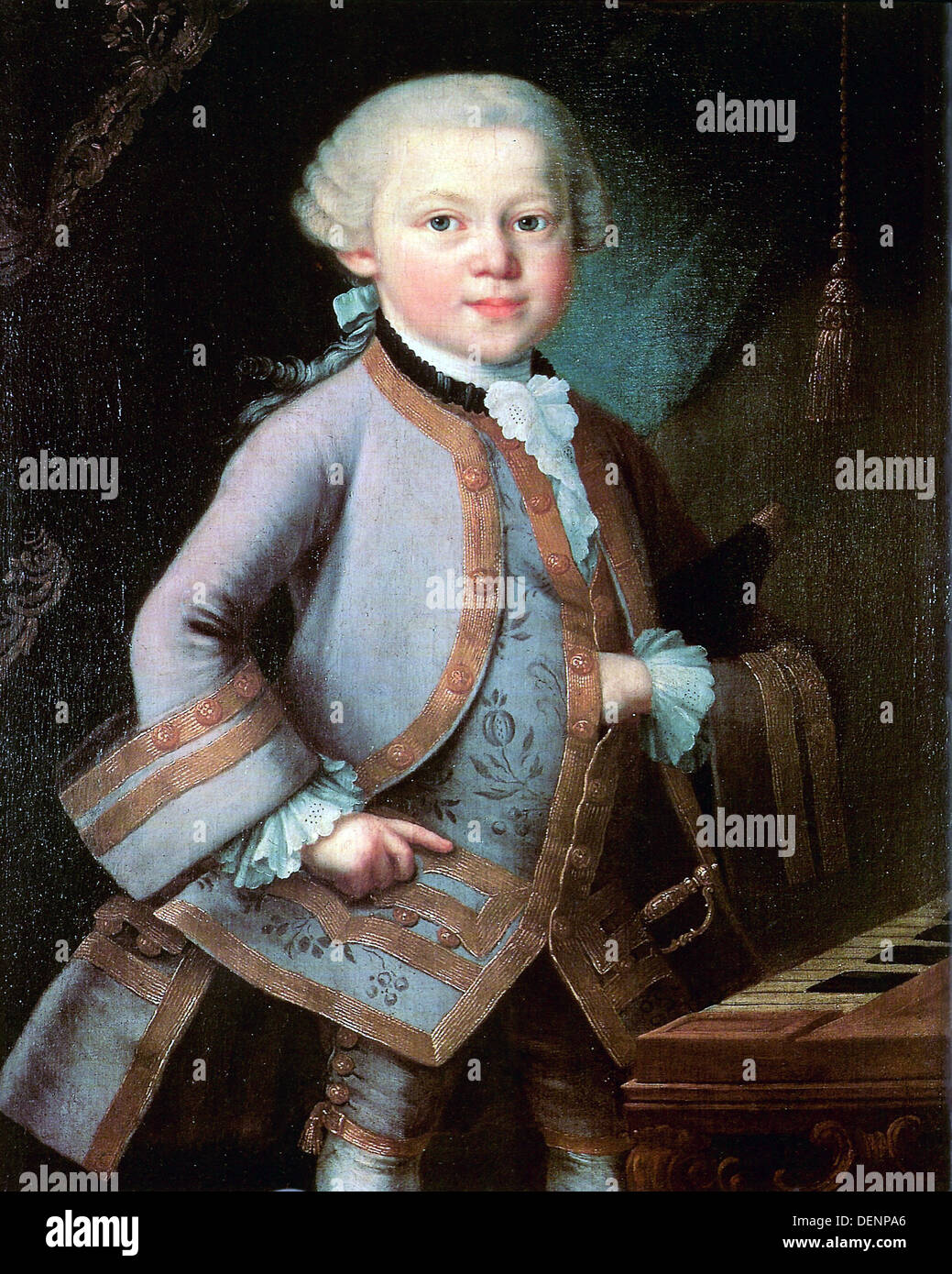 Mozart aged six years old, Wolfgang Amadeus Mozart, composer - Stock Image